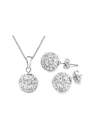 Elfi silver Genuine 925 Silver White Shamballa Jewellery Set SS8. EL186AC53IIWMY_1
