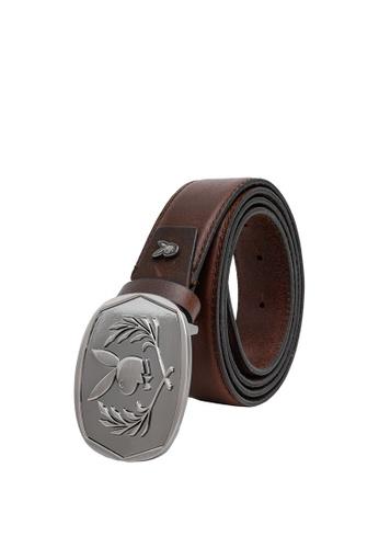 Playboy brown Men's Belt - 35mm Reversible Belt B431DAC8B37341GS_1