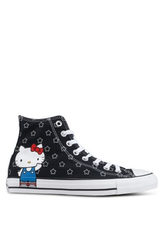 bb57292418ae9d Converse black Chuck Taylor All Star 70 Hello Kitty Hi Sneakers  49EA8SHF255054GS 1