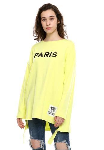 BLYTHÉ yellow 8897 Paris Oversized Tee C7788AA2A2CB00GS_1