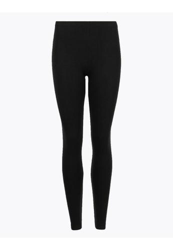 MARKS & SPENCER black M&S Heatgen Plus Thermal Brushed Leggings 3BA30AA9BAE222GS_1