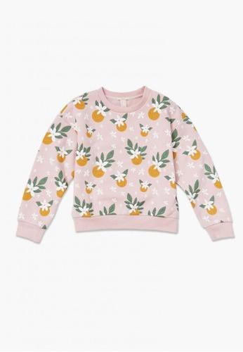 FOREVER 21 pink Fruit Print Pullover 083B6KA56318B1GS_1