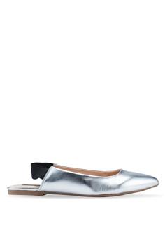 a93e26b7e612 ONLY silver Blondie Heel Metallic Ballerina Flats FD522SHBFFF13CGS 1