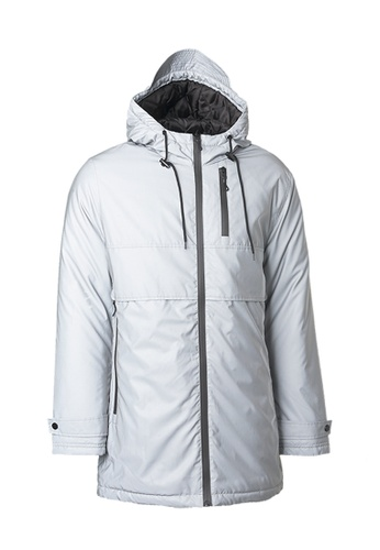 Universal Traveller grey Reflective Strike Silver Padded Jacket 74447AA80A6BC0GS_1