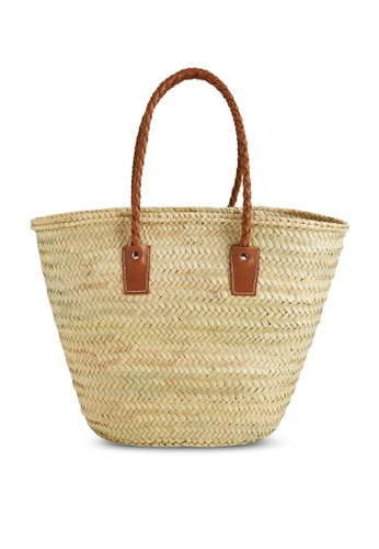 Mango brown Jute Basket Bag 2BACAAC073F647GS_1
