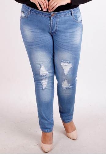 Brielle Jeans blue Ripped Skinny Jeans 8702 EE184AA36DF254GS_1