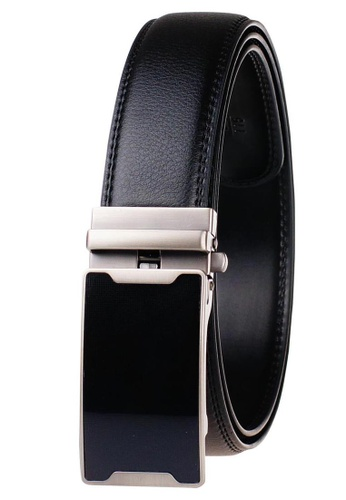 FANYU black Leather Dress Belt With Automatic Buckle belt 1DCC8AC7160735GS_1