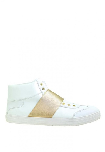 BENCH white High Top Sneakers   BE550SH0KFQEPH_1