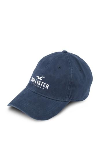 Hollister navy Brand Logo Cap HO422AC0T1ASMY_1