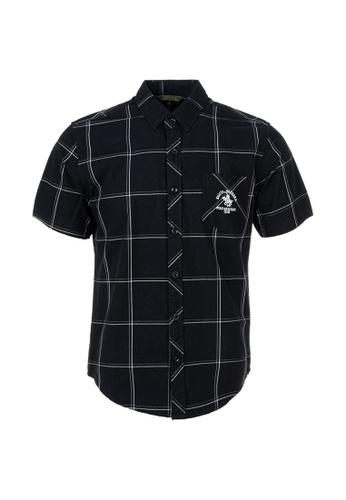 Santa Barbara Polo & Racquet Club black SBPRC Short Sleeve Shirt 07-9402-98 3C236AA8F67E0EGS_1