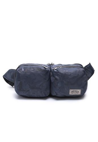DUSTY grey Multi-functional Compartment Waist Bag 041DDACF12E850GS_1