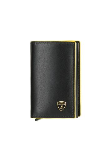 Lamborghini black Automobili Lamborghini® Galleria Black Calf Leather Wallet and Credit Cards holder 664E5ACFAC2777GS_1
