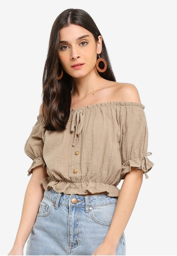 d04198b4481624 Buy Cotton On Miller Off The Shoulder Top Online on ZALORA Singapore