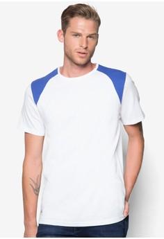 Shoulder Color Block T-Shirt