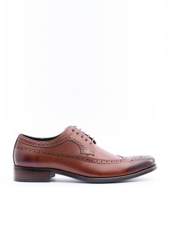 Kings Collection brown Hendrick Oxford Shoes KI358SH38DGNSG_1