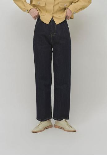 We Enjoy Simplicity navy Dark Navy Straight Long Jeans BB70DAAE4603EEGS_1