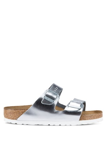 Birkenstock silver Arizona Metallics Sandals BI090SH67JQMMY_1