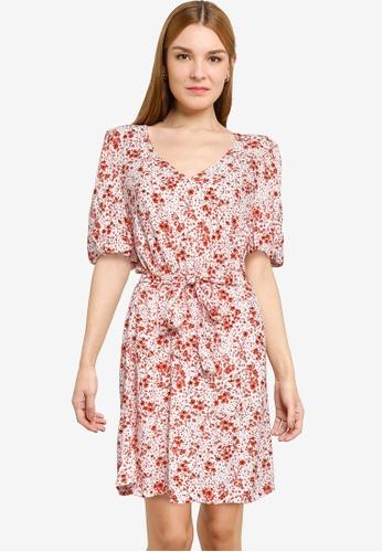 JACQUELINE DE YONG white Gaia 2/4 Mini Dress CE824AA046C8CFGS_1