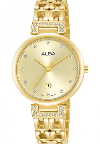 Alba gold Jam Tangan Wanita Alba Original Garansi Resmi AH7U86 AH7U86X1 Strap Stainless Steel Gold F917DAC1593AADGS_1