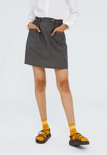 COLORBOX black Paperbag Skirt E2B59AAC4F6C2FGS_1