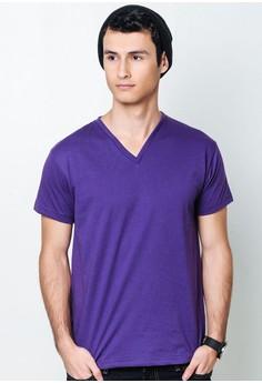 Radiant Violet V-Neck T-Shirt