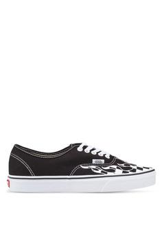 e39e0d00981d VANS black Authentic Checker Flame Sneakers E0034SH596EC18GS 1