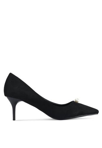VINCCI black Pointed Toe Pumps Heels 6270BSH602F251GS_1