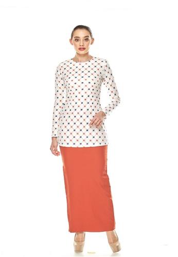 TUSCA white and orange Jenna Kurung Mini E3167AA01665E1GS_1