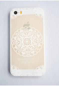 Center Mandala Hard Transparent Case for iPhone 5/5s