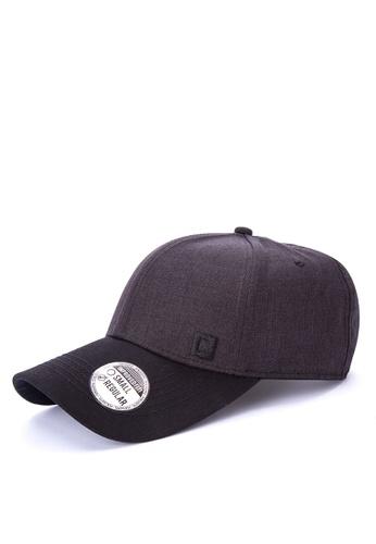 Penshoppe black Chambray Baseball Cap 6561BAC81FCFDBGS_1