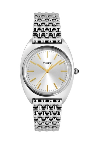 TIMEX silver and gold Timex Milano 33mm - Silver-Tone Case & Bracelet (TW2T90300) 7C9E8AC40D3B7CGS_1