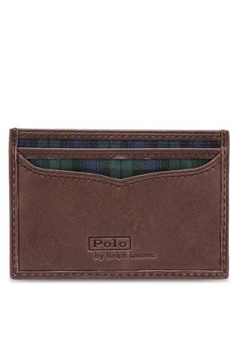 Polo Ralph Lauren navy Tartan Smooth Leather Card Case 41E71AC2120D2DGS_1