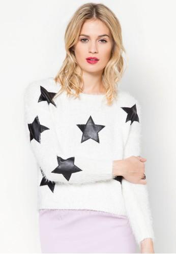 星星拼接毛衣, 服飾, esprit台灣outlet服飾