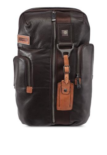 Volkswagen brown Volkswagen Genuine Leather Chest Bag VO089AC0SMAJMY_1