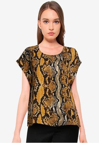 JACQUELINE DE YONG black Piney Short Sleeve Top F6D79AA33F56C1GS_1