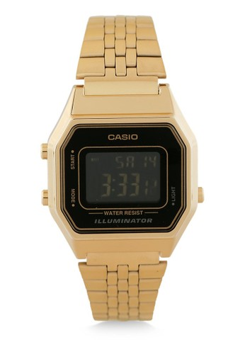 Casio gold Casio Jam Tangan - Gold Black - Stainless Steel - LA680WGA-1BDF D3B57AC31C1C09GS_1