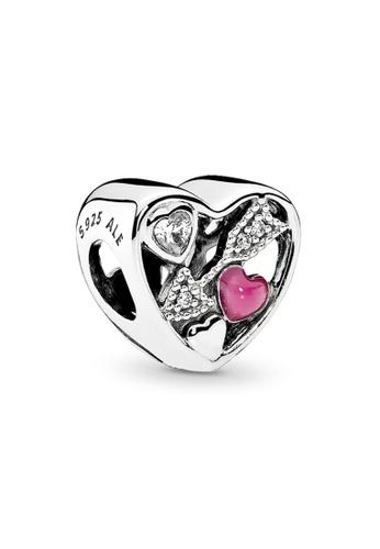 PANDORA silver Pandora Struck by Love Charm 8297EAC1A9ADC1GS_1