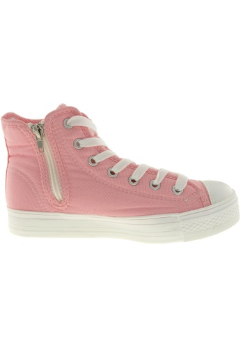 Maxstar pink Maxstar Women's C1-1 7 Holes Canvas High Top Casual Sneakers US Women Size MA164SH52PZZSG_1