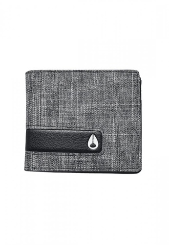 Nixon multi Nixon - Showtime Bi-Fold ID Zip Wallet - Grey/Black (C1585736) NI855AC36RWPSG_1