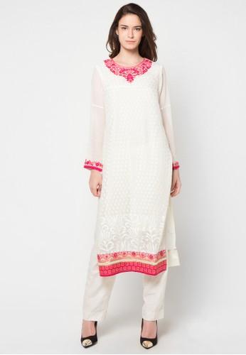 CHANIRA FESTIVE COLLECTION white Riyadh Long Tunic Set CH354AA32BJRID_1