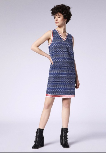 Diesel blue D-Awex Casual Dress DI095AA0GYNMSG_1