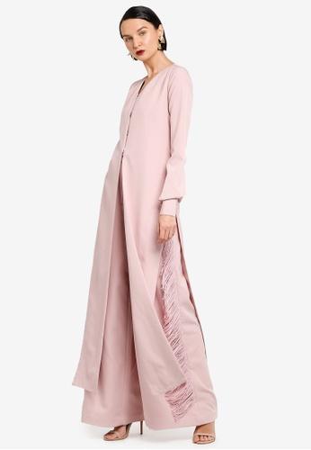 AfiqM pink SAKINAH Fringe Pant Suit AF546AA0SXPWMY_1