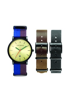 badccf0bd TED BAKER multi Ted Baker Blue Maroon Nylon Watch + 2 Extra Straps  TE856AC46JJHSG 1