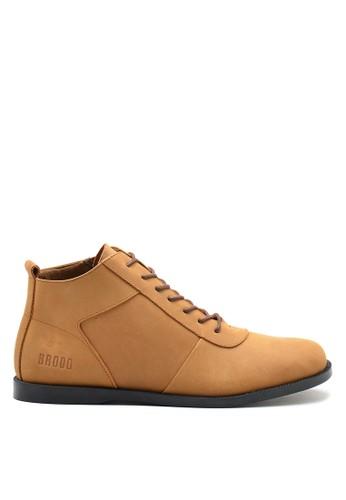 Brodo brown BRODO - Sepatu Pria Ventura EZ Choco Tan Black Sole EC22ESH244E244GS_1