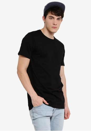 Factorie black The Tall Tee FA880AA49JDQMY_1