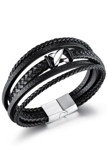 Trendyshop black Men's Punk Bracelet EA41BAC8B2899FGS_1