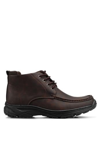 Rocklander 褐色 Matarazo 仿皮踝靴 BAC1FSH32C98FAGS_1