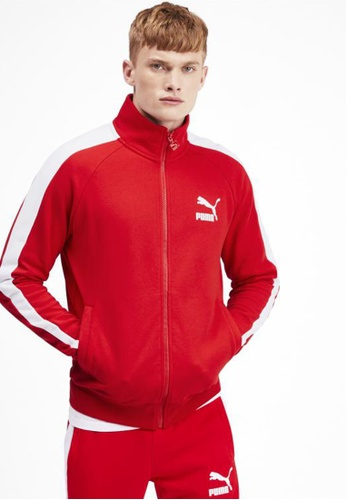 puma red Iconic T7 Men's Track Jacket 13102AA1467DFEGS_1
