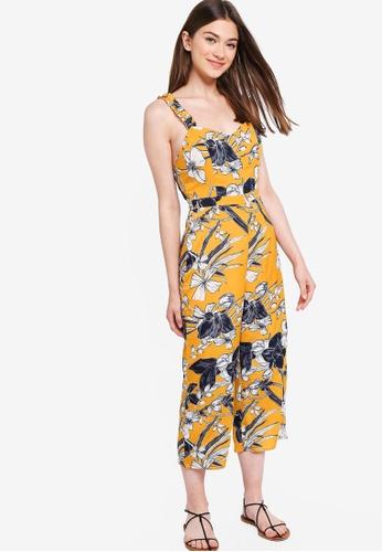 Something Borrowed yellow Ruffled Strap Jumpsuit 944F9AA5D44FB6GS_1