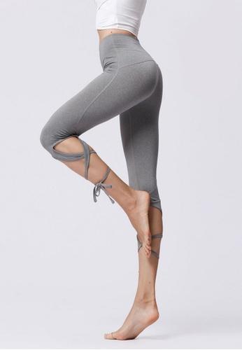 B-Code grey ZYG3055-Lady Quick Drying Running Fitness Yoga Sports Leggings -Grey DE524AA59DB92BGS_1